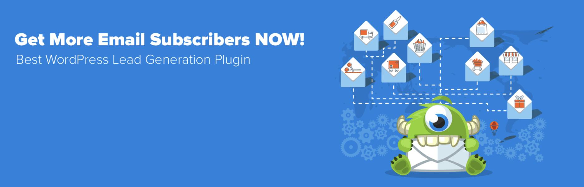 OptinMonster lead generation plugin