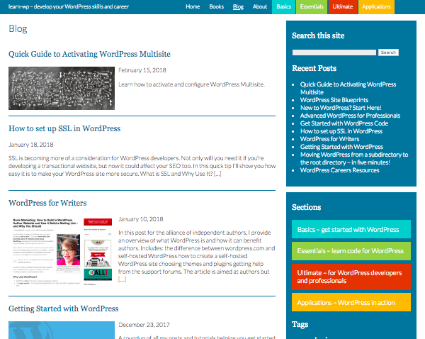 learn wp blog page
