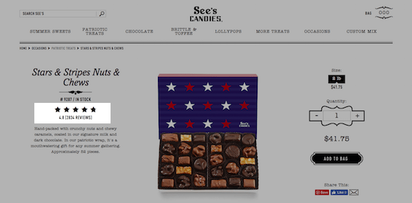 B2B and B2C Websites - Sees Candies Proof