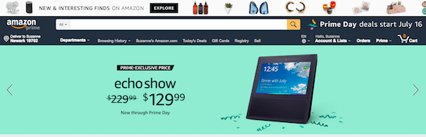 Design the First Page of Your eCommerce Site Amazon Urgency