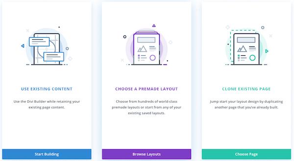 Divi Builder front-end content layout editor