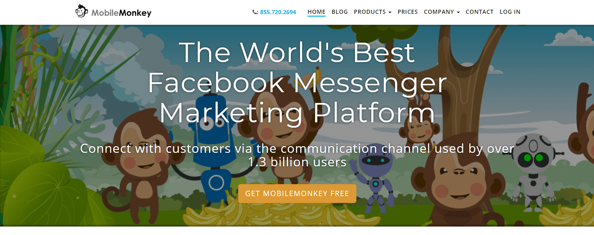 facebook messenger marketing - mobilemonkey chatbot