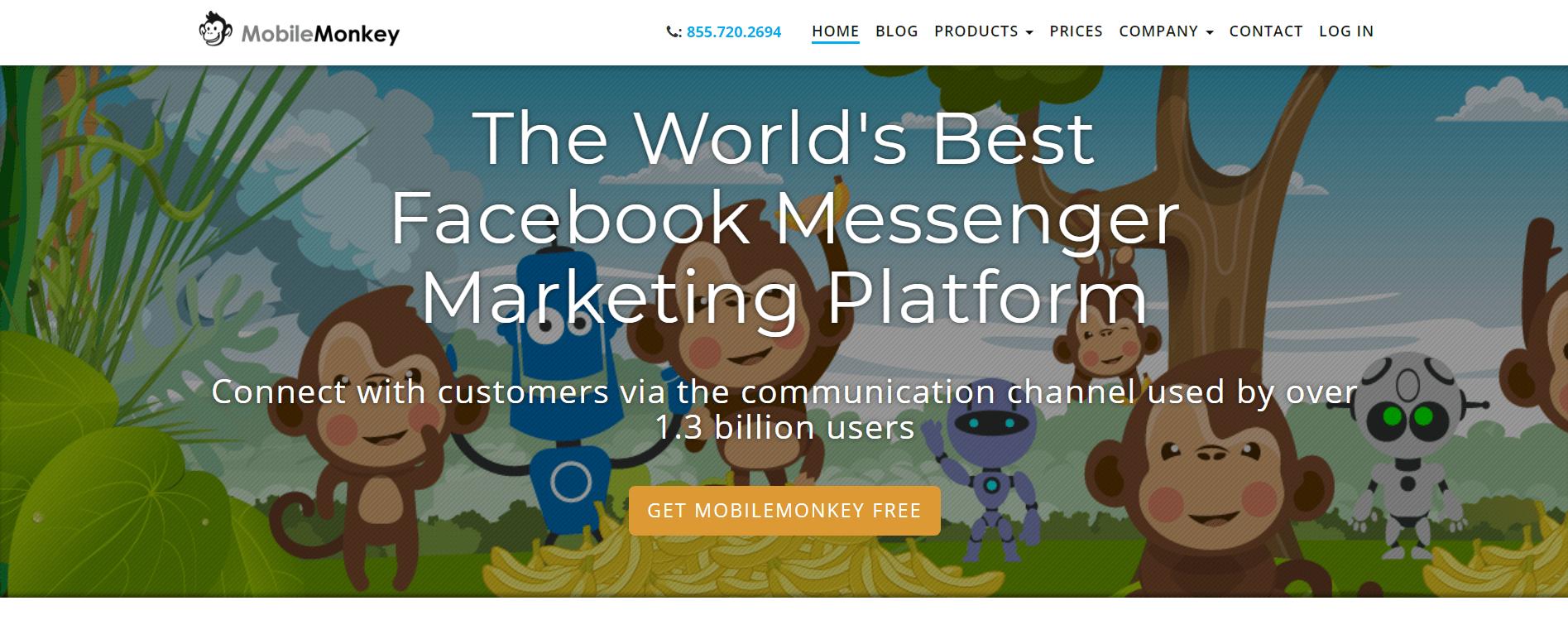 facebook messenger marketing - mobilemonkey chatbot