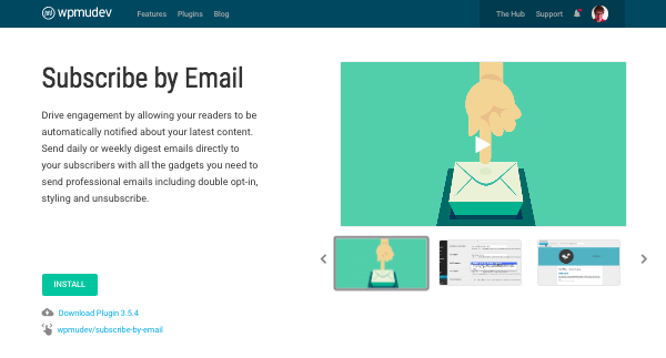 subscribe by email plugin