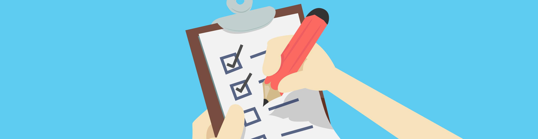 Illustration of checklist