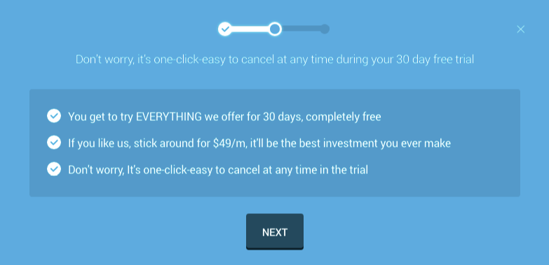 Image showing the WPMU DEV free trial options.