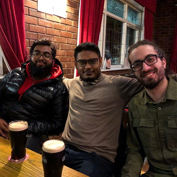 Drinking together at WordCamp