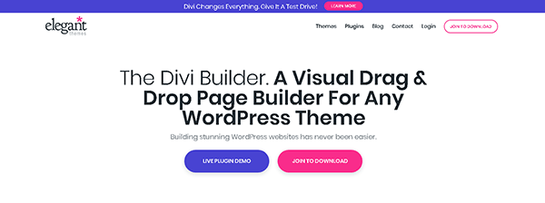 Divi is the most popular Page Builder with a huge community