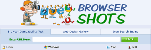 Browsershots - easy to use cross-browser testing tool for WordPress sites