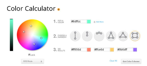 Color Calculator helps you to choose the best colors for your WordPress design