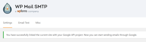 Screenshot of configuration complete success message