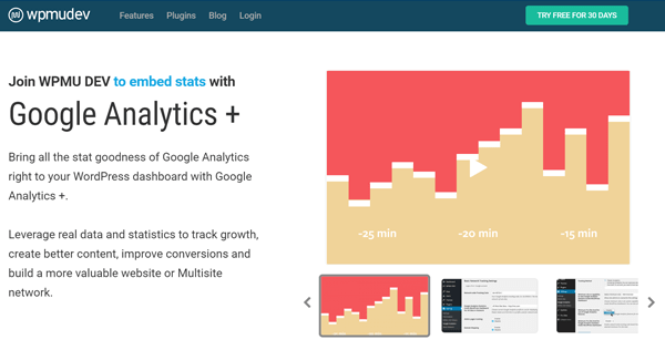 Screenshot of Google Analytics Plus Plugin by WPMU DEV
