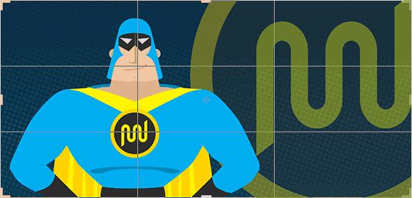 Rule of thirds in WordPress design - Photoshop crop tool