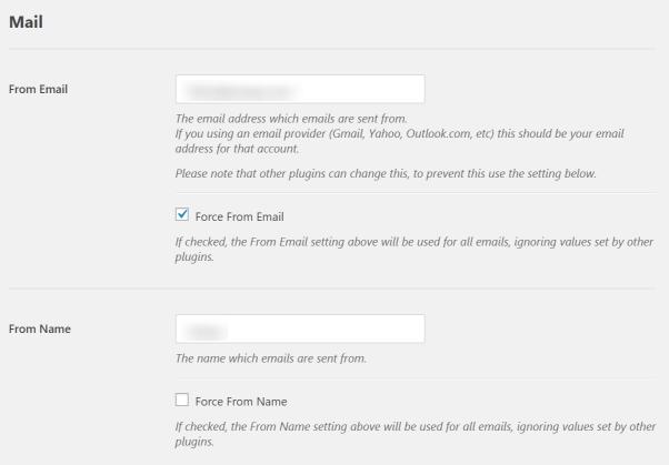 Screenshot of WP Mail SMTP Plugin Settings