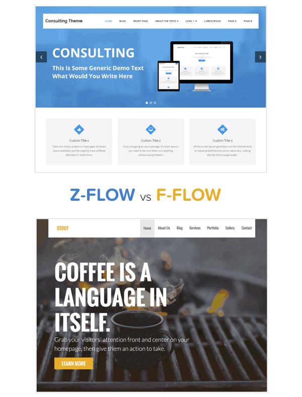 Z flow vs F flow design tips for WordPress developers