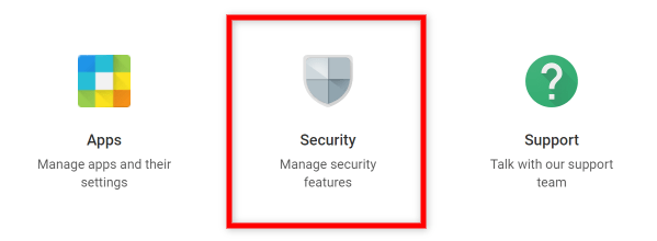 Screenshot of G Suite Admin How to Access Security Settings