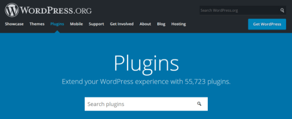 Screenshot of Plugins on WordPress.org