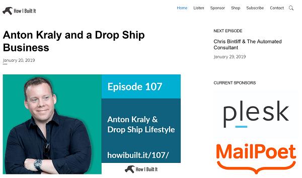 Screenshot of How I Build It WordPress Podcast