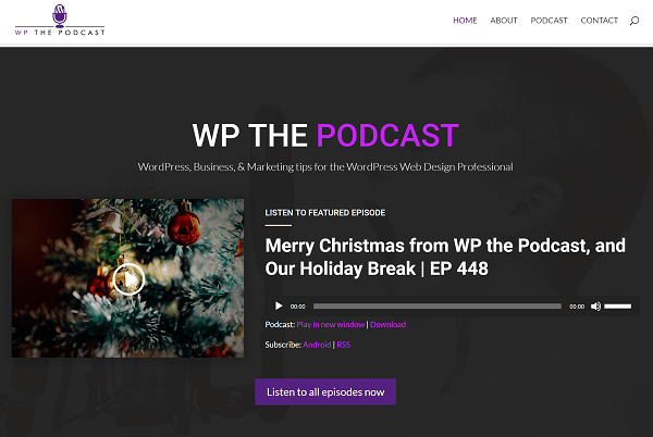 Screenshot of WP the Podcast WordPress Podcast