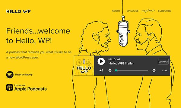 hellowp.world landing page