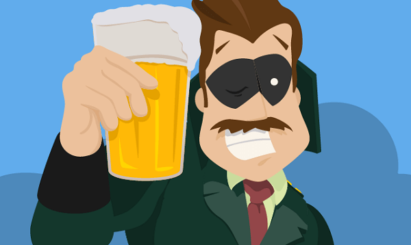Illustration of Hustle with a Beer
