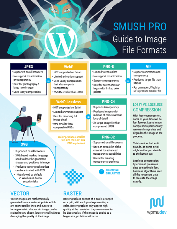 Image file format infographic