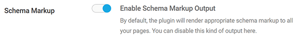 Screenshot SmartCrawl Enable Schema settings