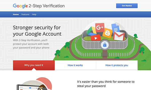 Defender 2-step verification Google integration