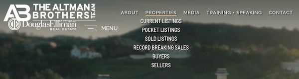 an example of a well done navigation menu