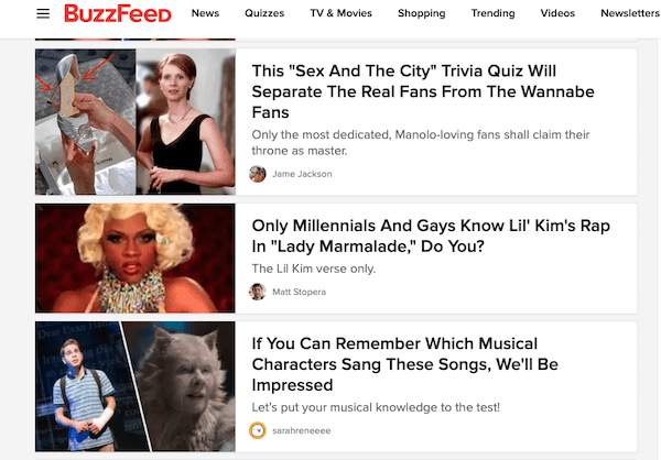 Another example of the irresistible headlines by BuzzFeed