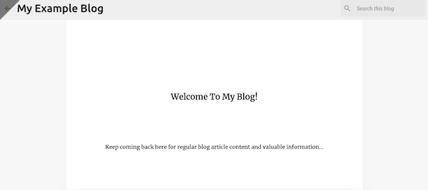 Preview your blogger web page