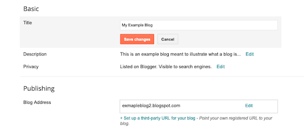 Adjust the title settings of your blog