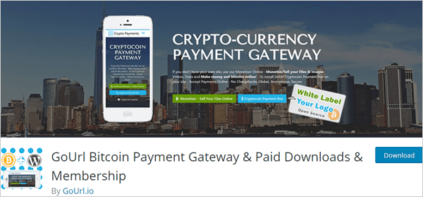 GoUrl Bitcoin Payment Gateway - WP Membership Plugin