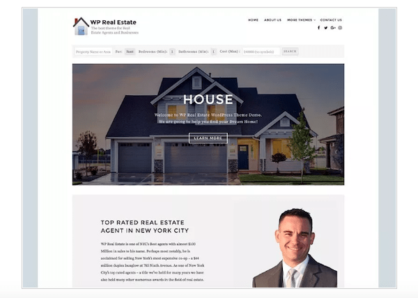 A look at the free theme WP Real Estate