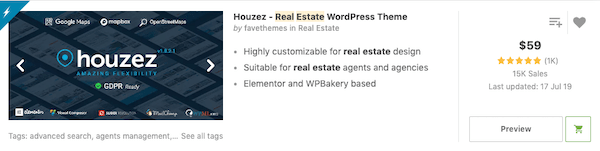 The Houzez WordPress theme