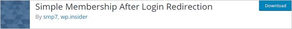 Simple Membership After Login Redirection