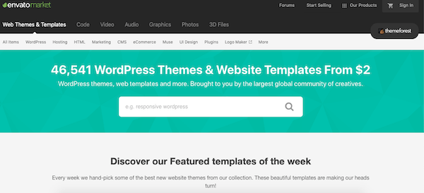 Try some paid WordPress themes