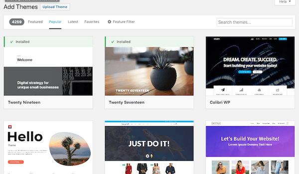 take advantage of free WordPress themes