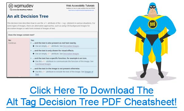 Click banner to download the Alt Tag Decision Tree PDF Cheatsheet