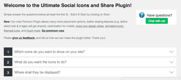 Start creating your social share buttons