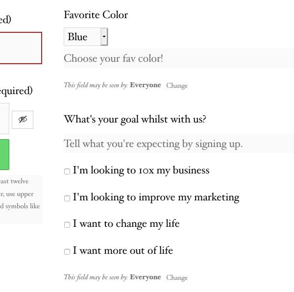 what it looks like when you add custom fields