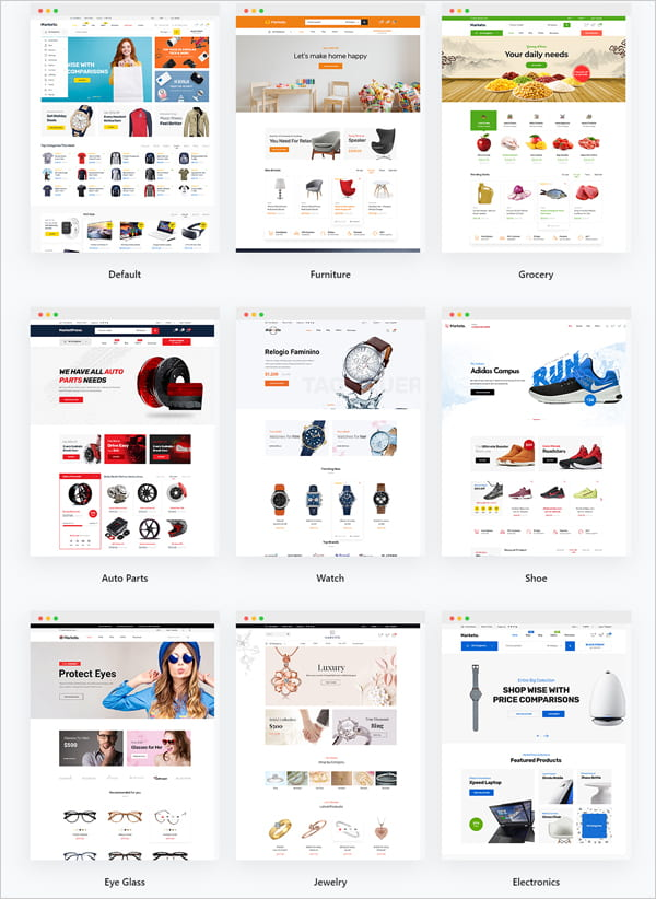 eCommerce Theme Gallery