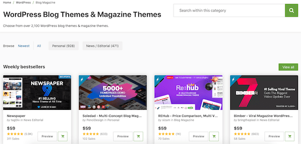 you can also search off-site for premium themes