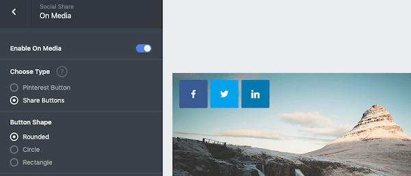 Add on media social sharing icons