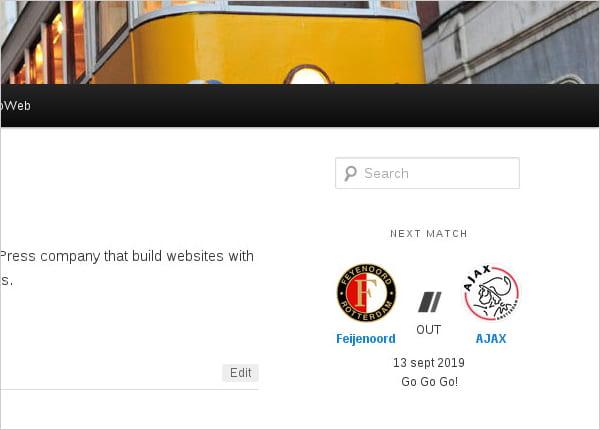 Sportsteam Widget screenshot