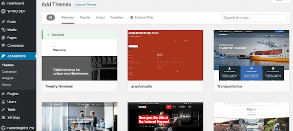 add themes and add a better look to your website