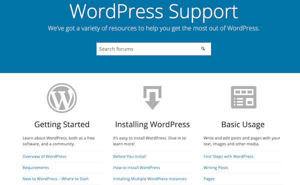 wordpress provides plenty of support