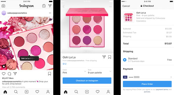 Instagram's new Checkout on Instagram eCommerce feature