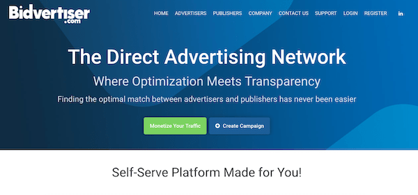 A look at the Bidvertiser ad platform