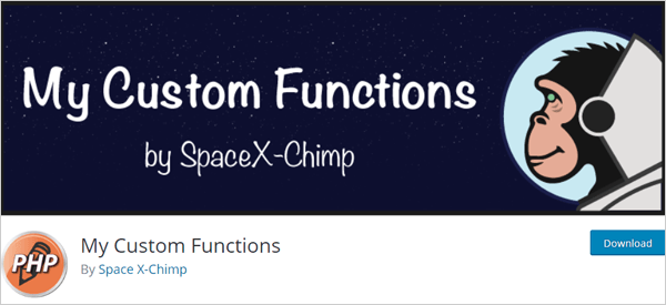 My Custom Functions WordPress Plugin
